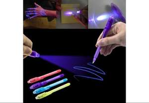 Gratis 13cm Invisible Ink Pen with UV Light - Random Color (alleen €0,25 verzendkosten )