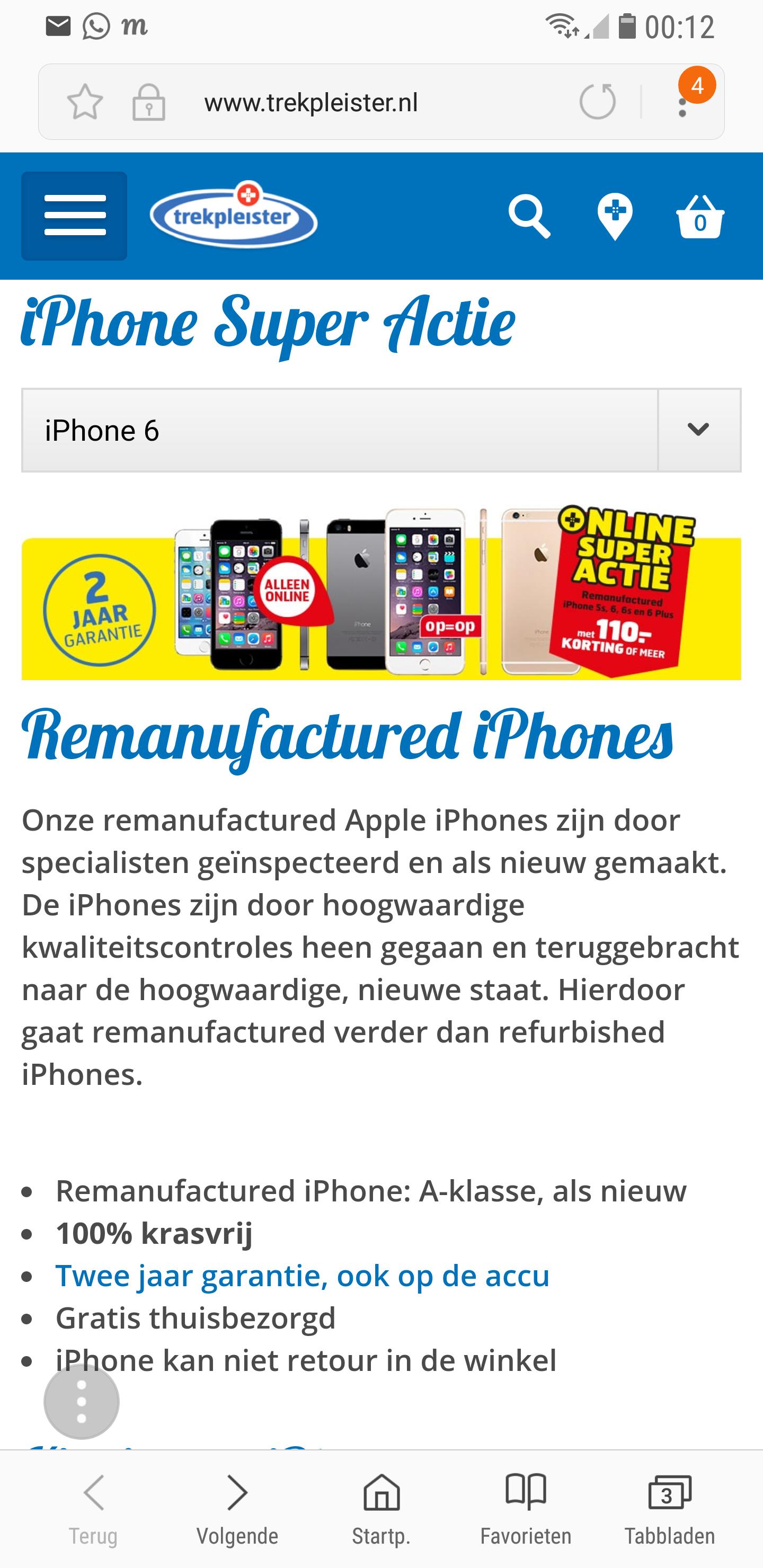 Remanufactured iPhones (vanaf 189.99) bij Trekpleister