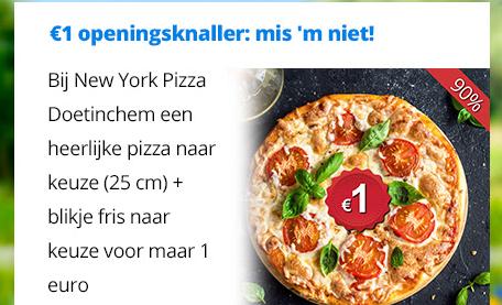 90% korting New york pizza (25cm) Doetinchem