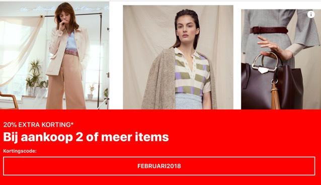 Tot 25-2 extra 20% korting op de sale (bij aankoop min. 2 stuks) @ Zalando