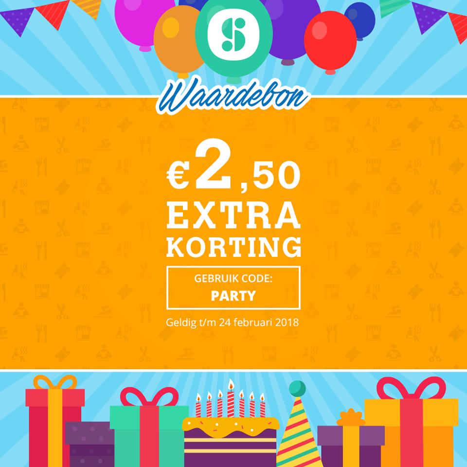 €2,50 korting bij de app Social Deal