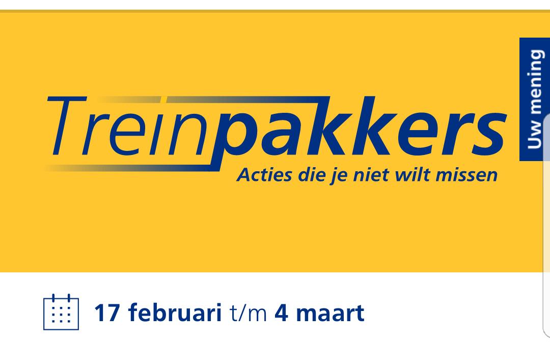 Treinpakkers van 17 februari tot 4 maart