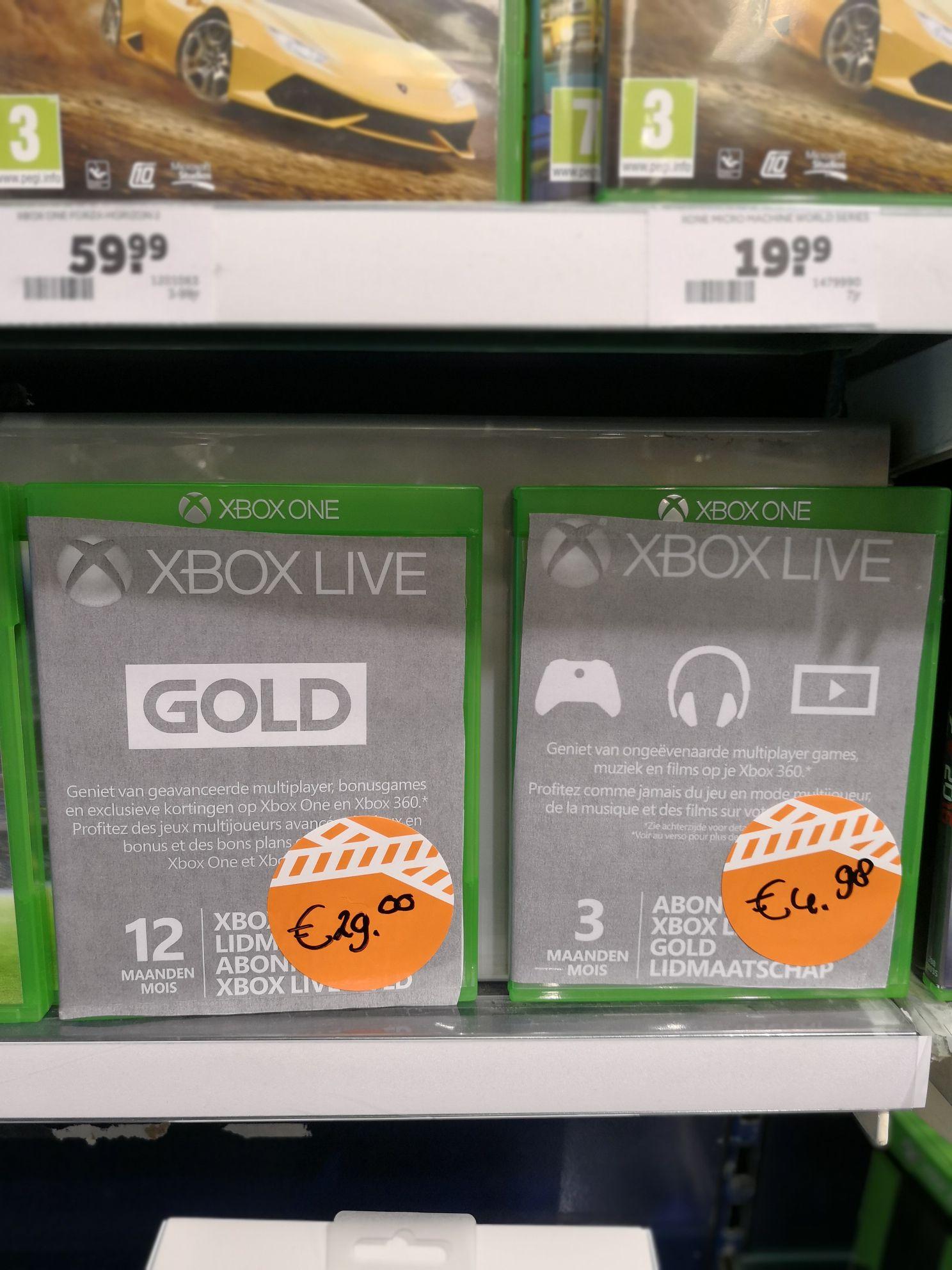 Xbox live 3 maanden en 12 maanden