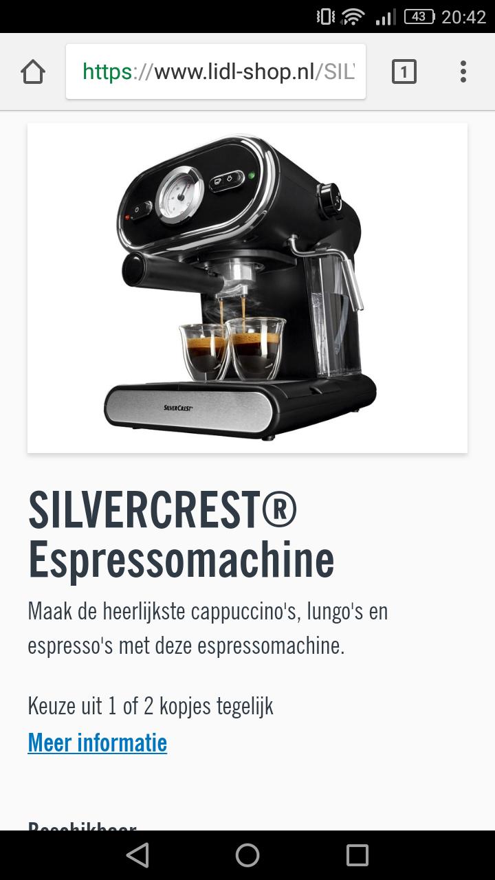 Silvercrest® Espressomachine