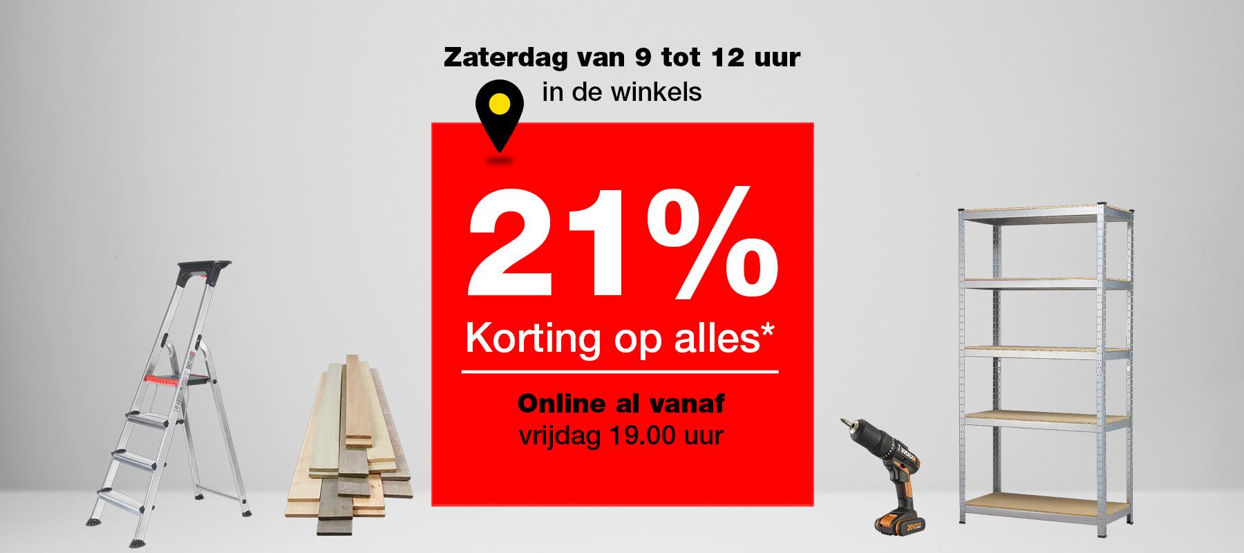 21% korting op alles! #Praxis