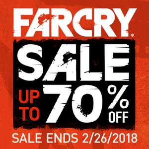 Far Cry Franchise tot 70% korting @Playstation Store US