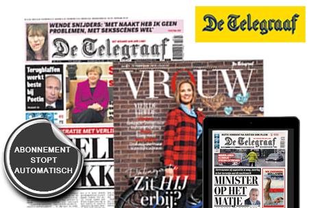 10 weken De Telegraaf (krant + digitaal) voor €19,95 (stopt automatisch) @ Marktplaats