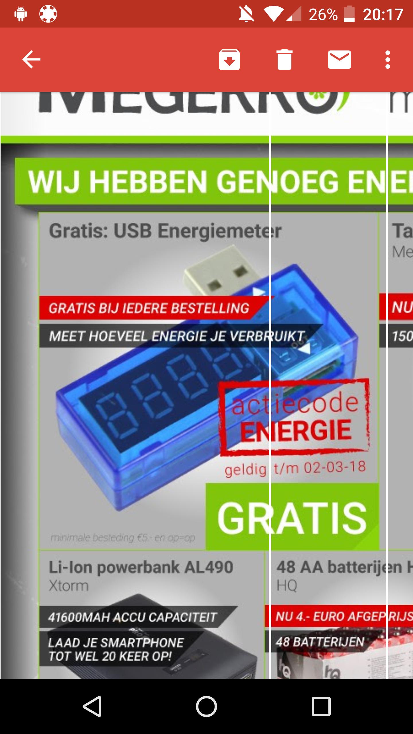 Bij iedere bestelling een gratis Gembird USB energiemeter @megekko