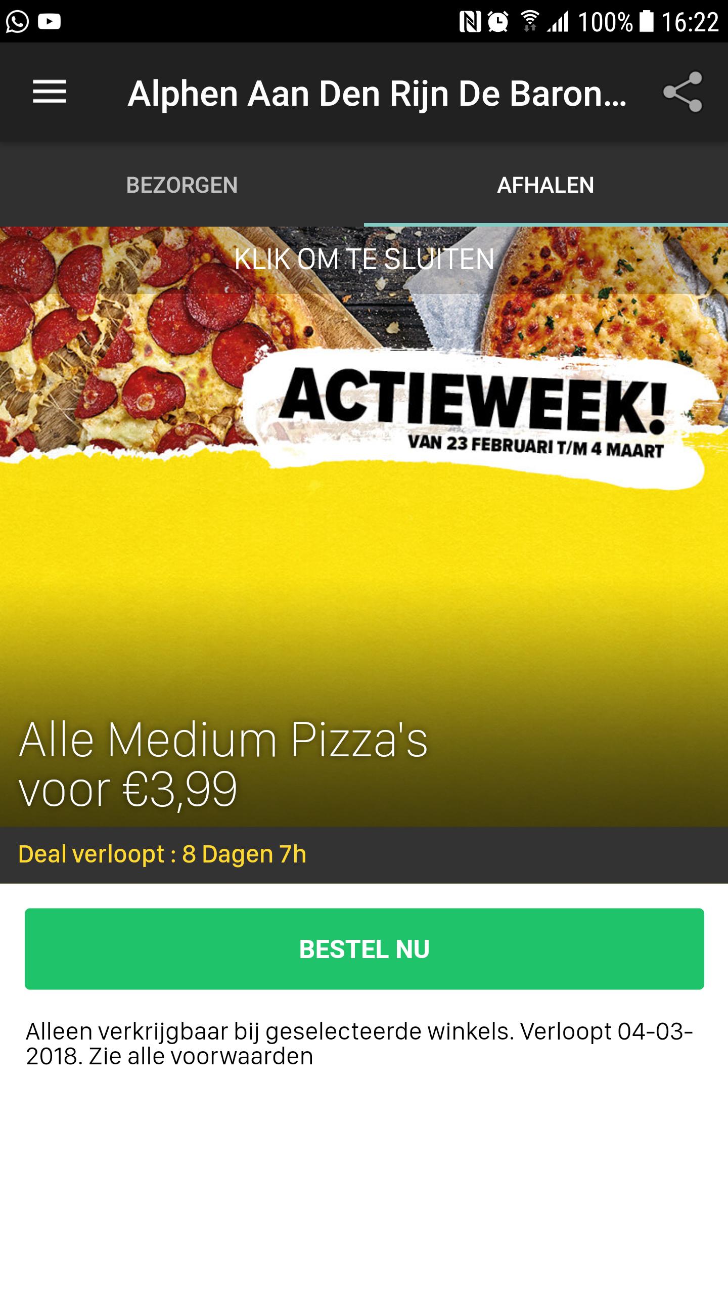 Stuntweek bij Domino's alle medium pizza 3.99