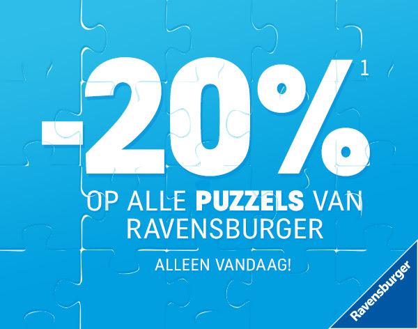 Alleen vandaag 20% korting op alle puzzels van Ravensburger @ Toysrus
