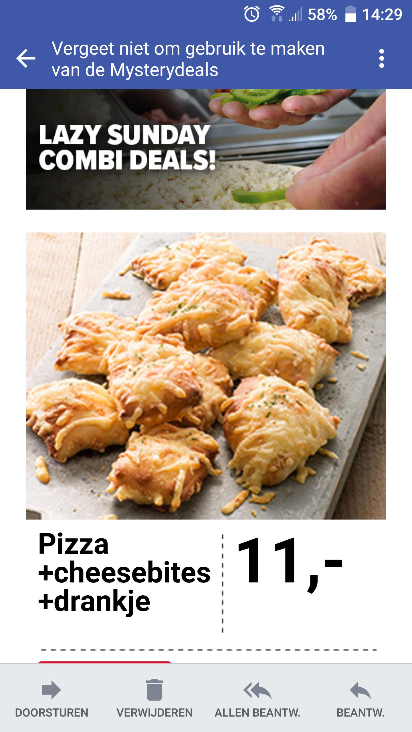 Diverse kortingscode's bij Domino's, o.a. een compleet menu voor 11 euro