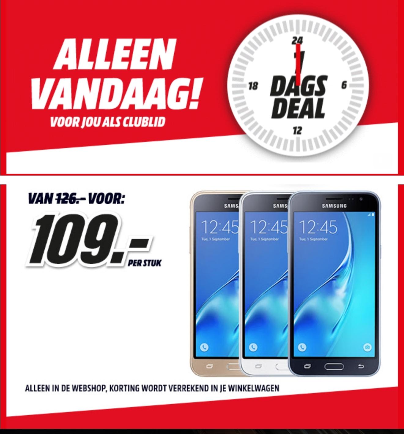 Samsung Galaxy J3 (2016) 4G, alleen vandaag voor jou als clublid - €109 @ Mediamarkt