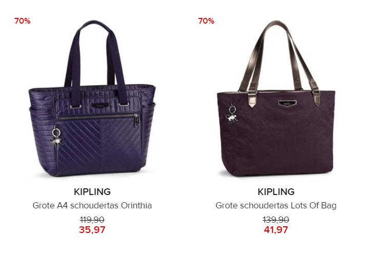 Kipling - 2 tassen - 70% korting @ Hudson's Bay