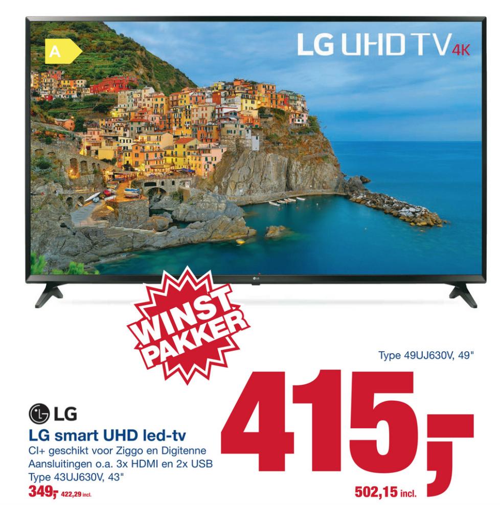 4k: LG 49UJ630V €502 | 43UJ630V €422 @ Makro