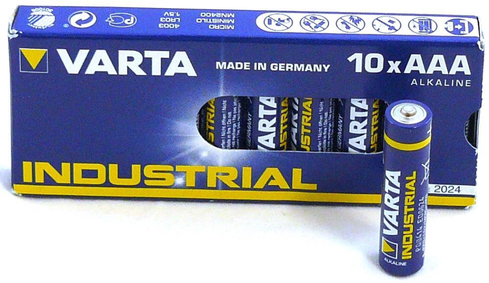 Varta Industrial batterijen AAA (10 stuks)