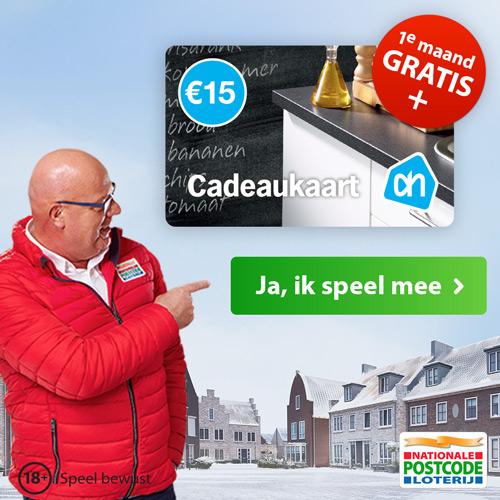 Speel nu de eerste maand gratis mee én ontvang een Albert Heijn cadeaukaart van € 15,-.