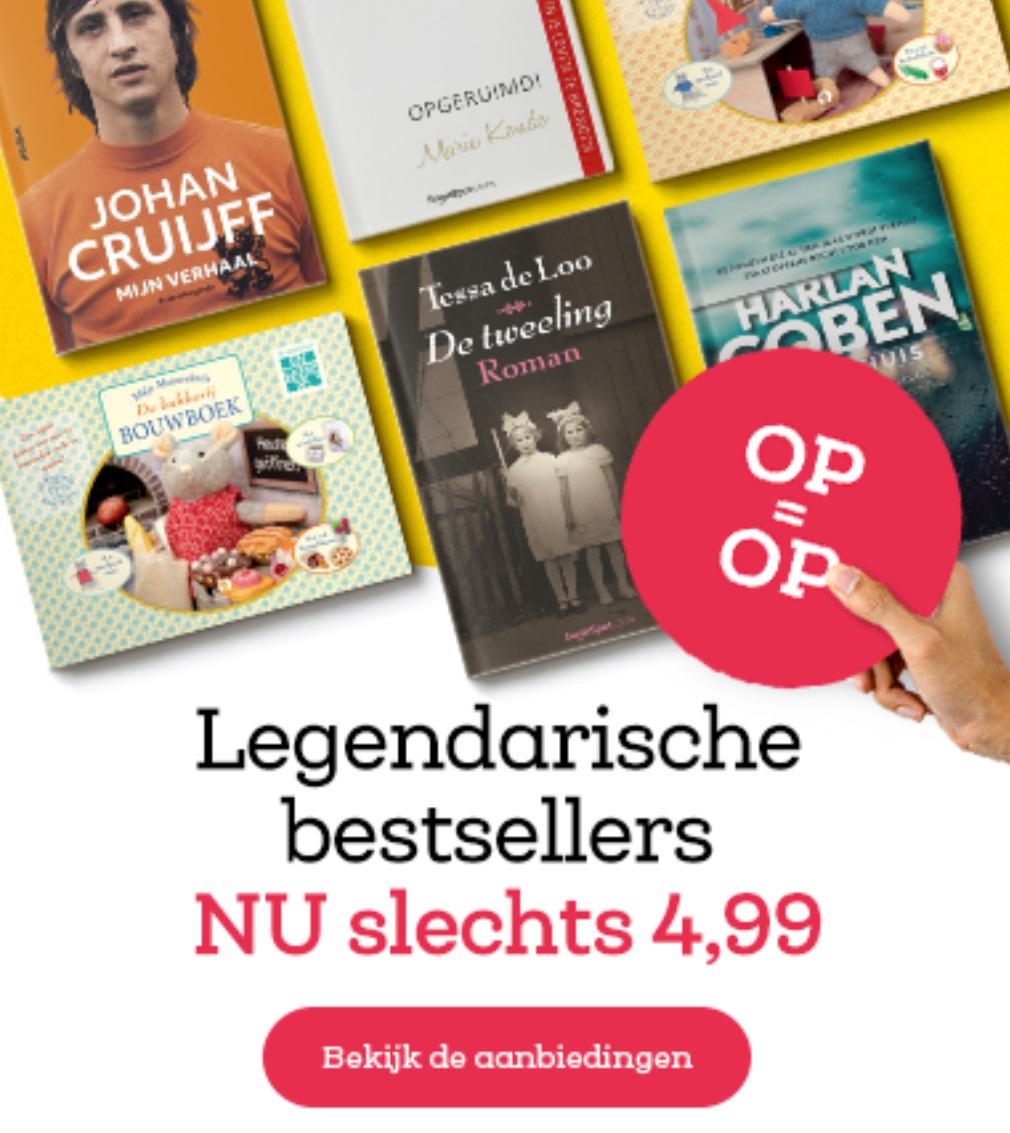 Legendarische bestsellers voor €4,99 incl. verzending @Bookspot.nl