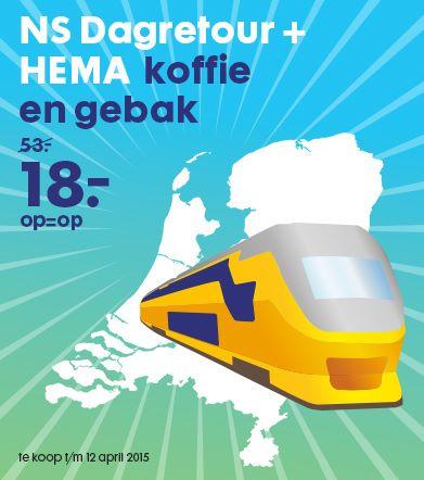 NS Dagretour trein + koffie en gebak voor €18,- @ HEMA