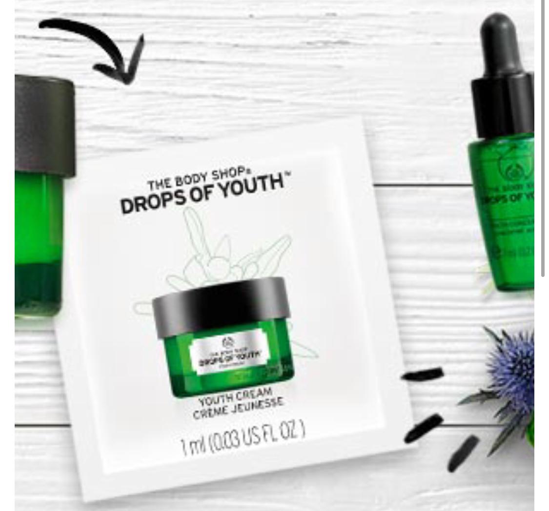 Gratis drops of Youth skincare 1ml en 7ml