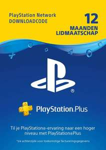PlayStation Plus 12 maanden (NL) of (BE) @ Gamemania