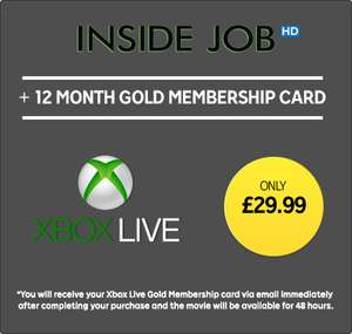 Xbox Live Gold 12 Maanden  + Inside Job voor €33,50 (UK VPN) @ Rakuten.tv