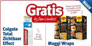 Gratis Colgate Total Zichtbaar Effect en/of Maggi Wraps @ Jan Linders