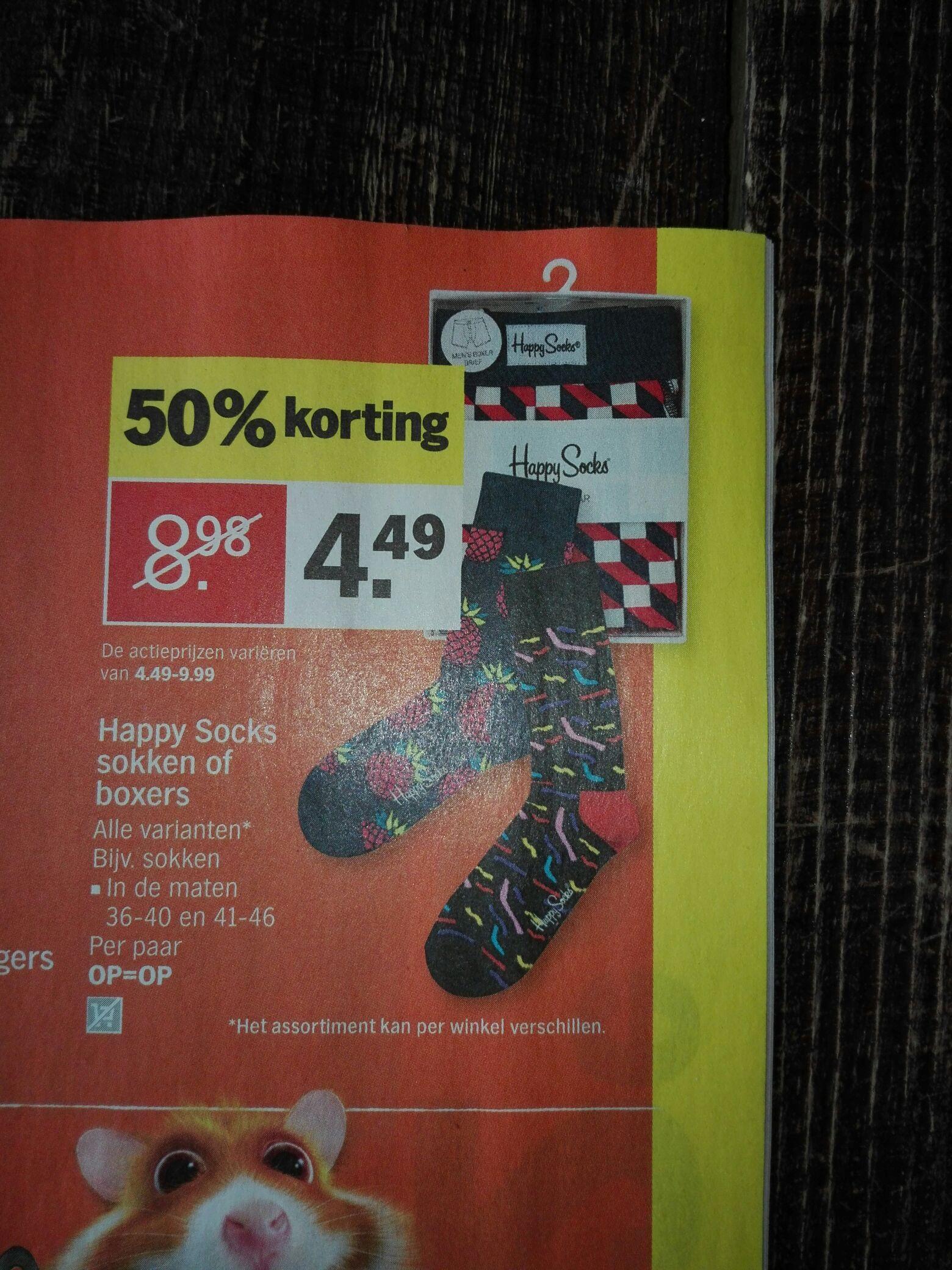 Happy Socks sokken of boxers 50% korting @AH