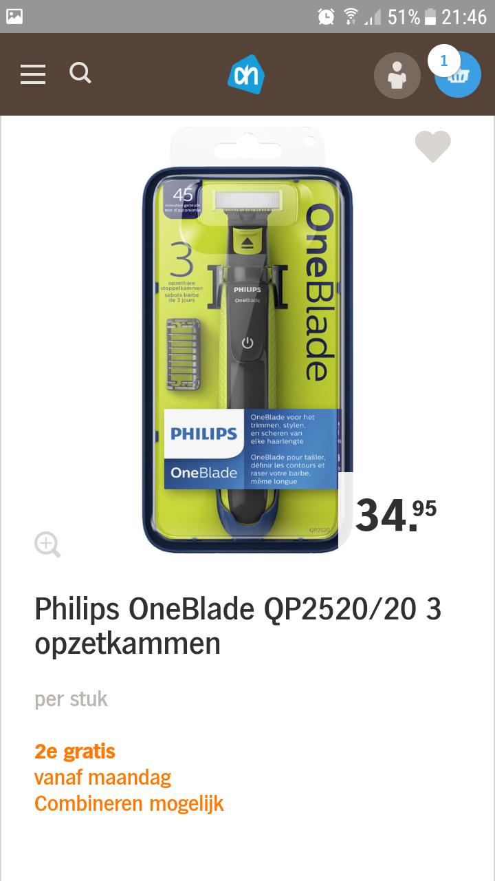 Philips oneblade 2'de gratis