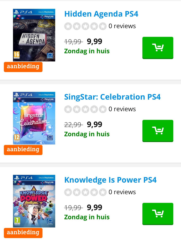 PS4 games voor €9,99 inclusief verzending @Coolblue