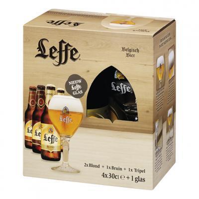 Leffe proefverpakking met gratis glas @ Nettorama