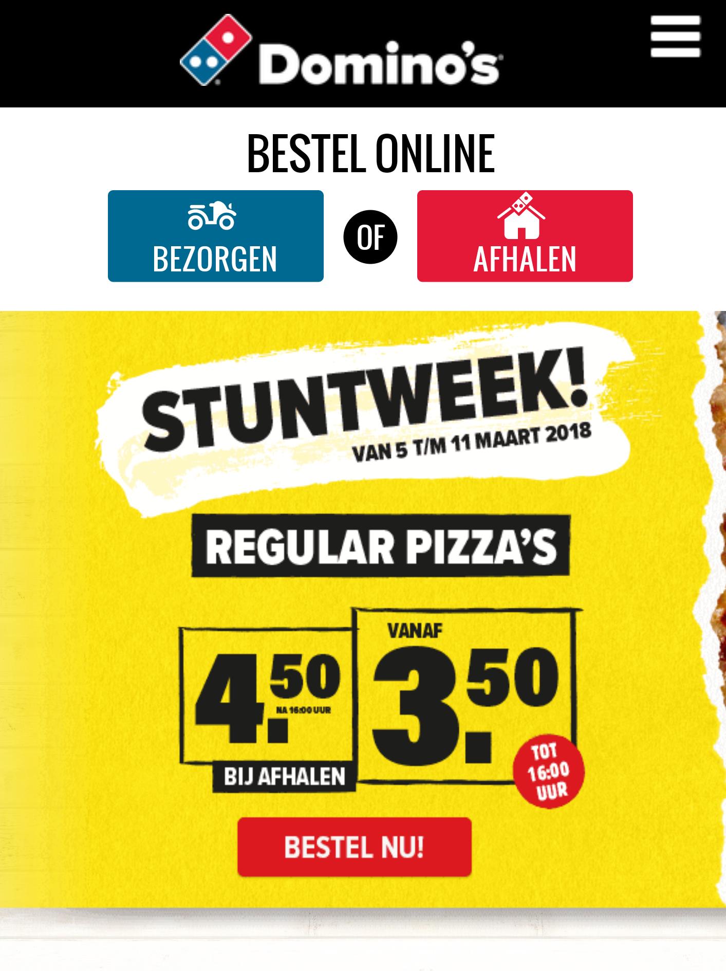 [GRENSDEAL BELGIË] Domino's regular pizza