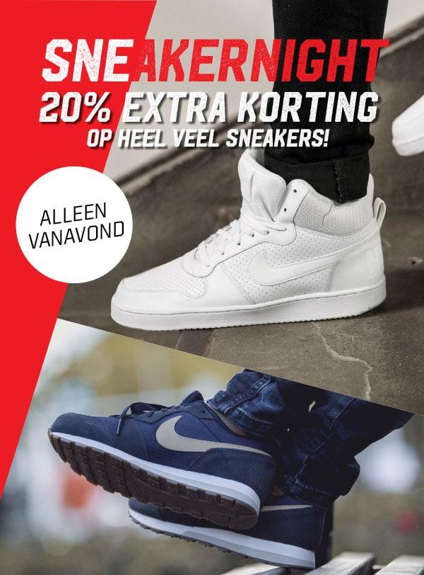 Tot 09:00 uur 20% extra korting op schoenen @ Aktiesport
