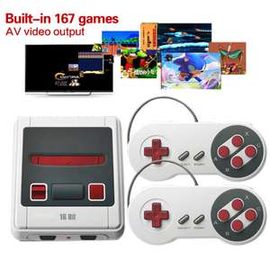 16-bit Mini Retro Video Game Console with Built-in 167 Classic MD Games @ Zapals