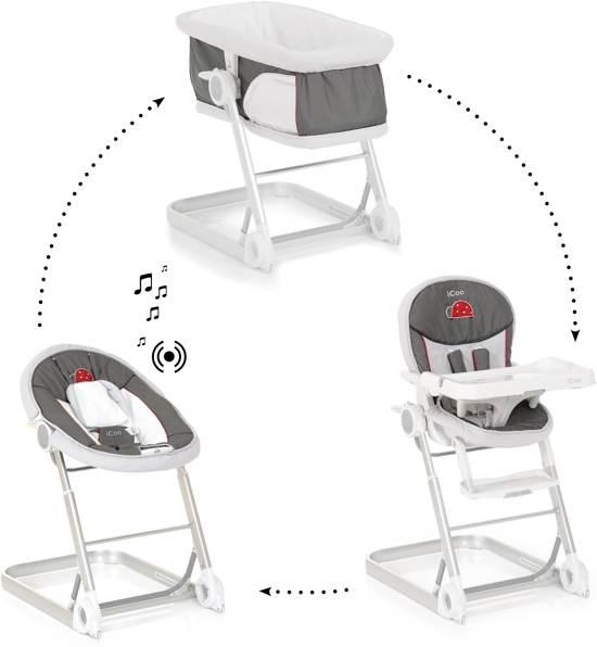 [Update] iCoo Grow With Me 1-2-3 Wieg/Wipstoel/Kinderstoel voor €104,70 @ Bol.com