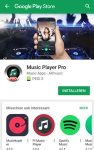 [GRATIS APP] music player pro @ Google play store