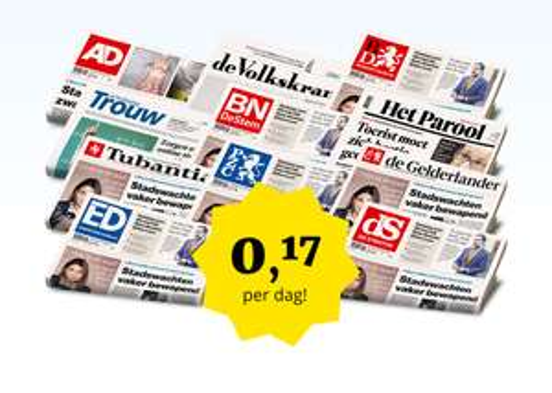 Favoriete krant voor €1,- per week