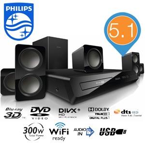 Philips HTB3560 3D Blu-ray home cinema set voor € 128,90 @ iBOOD
