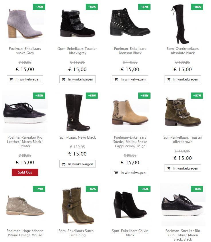 Schoenen ronde prijzen: €10 - €35 = 75-93% korting @ Maison Lab