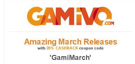 Dit weekend 20% cashback bij Gamivo