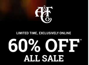 Alle sale (dames + heren) 60% korting @ Abercrombie & Fitch
