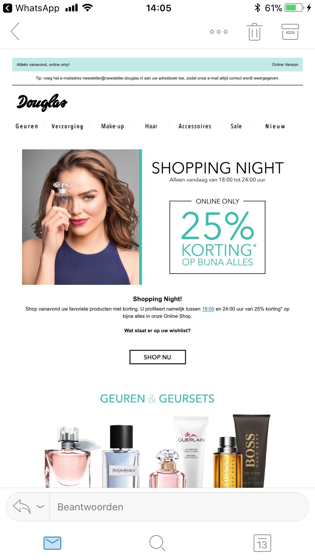 Douglas Shopping Night -25%