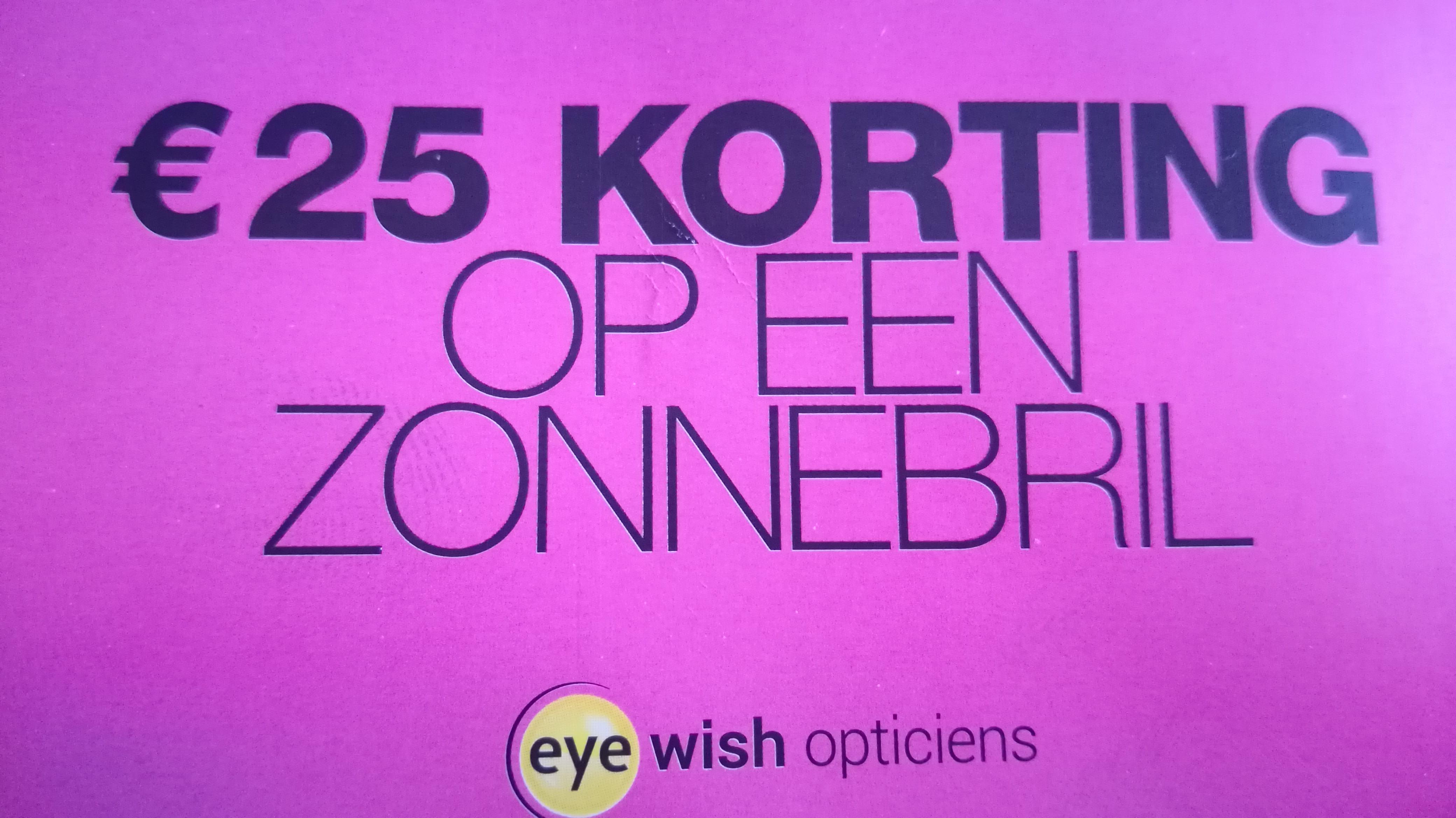 €25 korting op een zonnebril vanaf €99 @ Eyewish