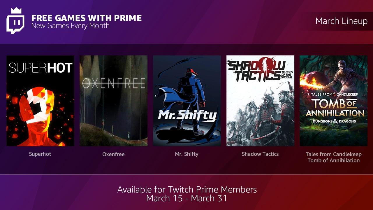 Vanaf 15 maart, elke maand gratis PC games met Twitch Prime