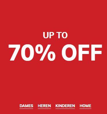 Tot 70% korting + H&M-club voucher (extra koring - variabel) @ H&M