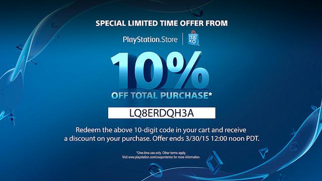 Kortingscode voor 10% korting op alles @ PlayStation Store US