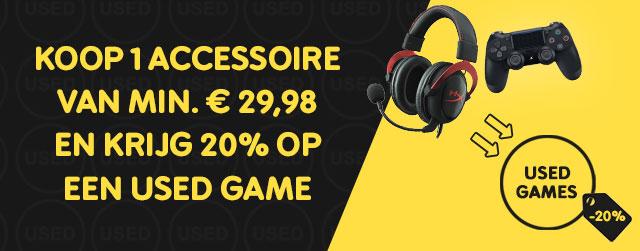20% korting op een used game bij aankoop van 1 accessoire van min. €29,98 @ Gamemania