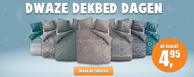 Dwaze Dekbed Dagen - Dekbebben vanaf €4,95 @slaaptextiel