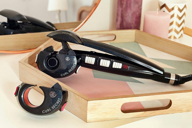 BaByliss Curl Secret Ionic 2 C1300E, automatische krulstyler met twee opzetstukken voor krullen en golven