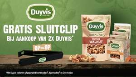 GRATIS Duyvis sluitclip bij aankoop van 2 producten @Jumbo