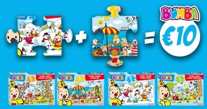 Studio 100 Bumba puzzelactie; 2 stuks voor € 10